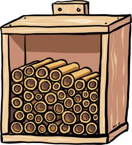 Illustrasjon av insektshotell.