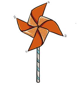 Illustrasjon av ferdig laget vindmølle.
