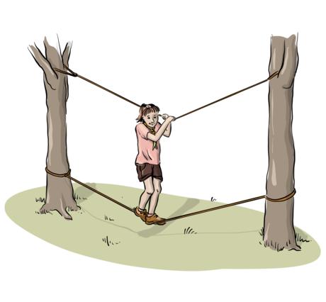 Illustrasjon av apebro i bruk.