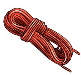 Illustrasjon av et klatretau